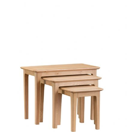 Newhaven Oak Nest of 3 Tables